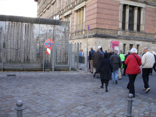 American Tourists inspect remains of the Berlin Wall!