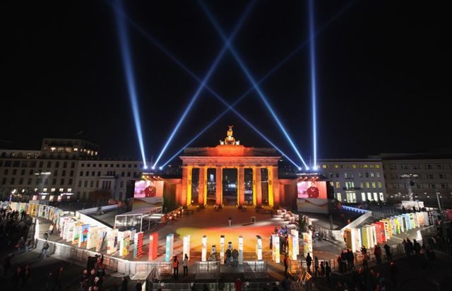 Berlin in 2009 during the 20th anniversary celebration of the Fall of the Wall